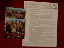 The Beatles Sergeant Pepper's CD Release memo with CD booklets 1987
