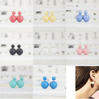 Wholesale 12 Pairs Crystal Double Side Faux Pearl Ball Beads Stud Earrings