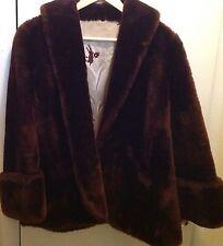 Vintage Mouton Lamb Coat Lined Jacket Fur