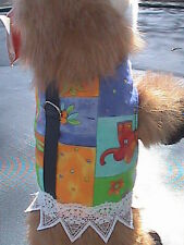 Small Animal Harness - Summer Quilt with Lace Skirt - Dog, Cat, Monkey