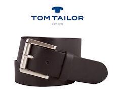 TOM TAILOR: Herren Gürtel Herrengürtel Ledergürtel Schwarz 40mm TG1011R01 NEU