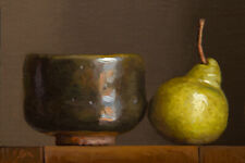 -Still Life with Pear and Korean Bowl- painting by Abbey Ryan