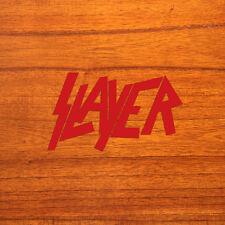 """Slayer 11"""" inch Red Vinyl Bumper Window Sticker Decal"""
