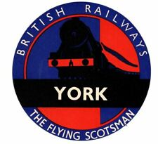 More details for british railways luggage label - the flying scotsman - york