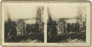 Trench Big/Large Guerre WW1 Photo Stereo Vintage Analogue