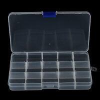 15 compartimentos pesca anzuelos gancho caja de cebo Tackle almacenamie*ws
