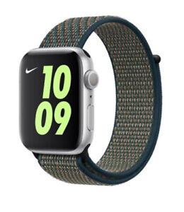 Genuine Official Apple Watch 42/44mm Nike Sport Loop Hyper Crimson Neptune Green