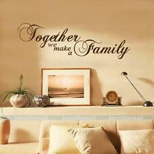 We Make A Family Together Wall Sticker Quote Decal Home Door BedRoom DIY Decor