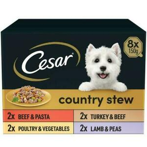 Cesar Country Stew Special Selection 8 x 150g Wet Dog Food High Quality/Balanced