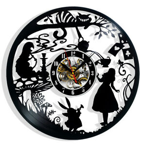 Alice in Wonderland Vinyl Wall Clock Record Gift Decor Art Poster Sing Feast Day