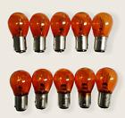 (10) 1157 Amber Turn Signal Light Bulb Stop Rear Brake Miniature Bulbs 1157na