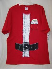"""Christmas Tee Shirt """"The List"""" Size Large 42/44 Fruit of the Loom Men's NWT"""
