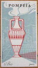 French Perfume Card - Pompeia, L. T. Piver, Paris, France