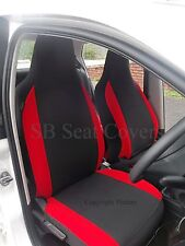 VOLVO V40 / V50 / V60 / V70 CAR SEAT COVERS ANTHRACITE + RED BOLSTERS 2 FRONTS