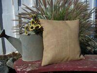 16x16 Burlap Pillow Throw Decorative French Country Farmhouse covers 2 PC burlap