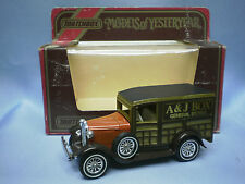 MATCHBOX MODELS OF YESTERYEAR Y-21 1930 MODEL A FORD - A & J BOX GENERAL STORES