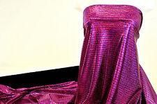LYCRA SPANDEX FOIL SQUARES STRETCH FUCHSIA FABRIC BYT