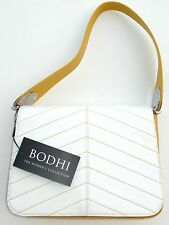 Bodhi Leather Flap Hobo White Yellow Butterscotch Mustard Shoulder Handbag NWT