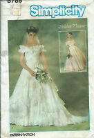 S 6766 sewing pattern ruffled Wedding DRESS Bridal GOWN Chic sew off-shoulder 10