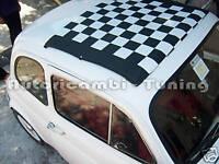 Tela Capote a Scacchi Bianco Nero per FIAT 500 F L R