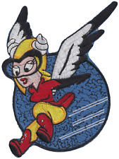 Women Airforce Service Pilots WASP Mascot Shaped Embroidered Patch