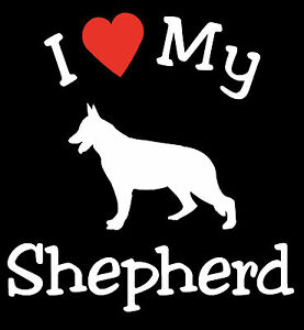 Pair of I Love My Dog GERMAN SHEPHERD Pet Car Decals Stickers