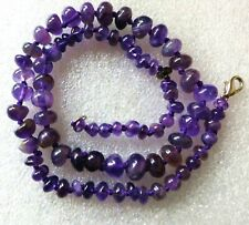 """VINTAGE GRADUATED GENUINE AMETHYST HAND-KNOTTED 16"""" NECKLACE"""