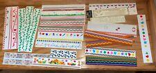 Lot of Mrs. Grossman design line border STICKERS etc. scrapbooking