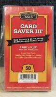50 Ct Card Saver III Cardboard Gold PSA Graded Semi Rigid Holders BRAND NEW CS 3