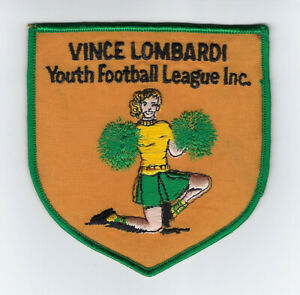 1970's PACKERS Vince Lombardi Youth Football League patch Green Bay RARE
