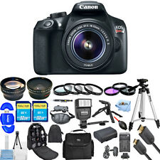 Canon EOS Rebel T6 DSLR Camera with 18-55mm Lens (Black) USA MODEL MEGA KIT NEW!