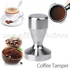 Stainless Steel Coffee Bean Tamper Espresso Latte Cappuccino Americano 51mm UK