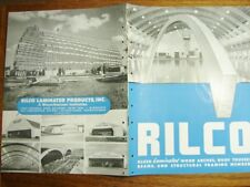 1946 RILCO Glued LAMINATED Wood Arches Trusses Beams Structural Framing Catalog