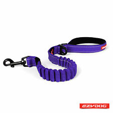 "Red EzyDog Zero Shock Absorbing Dog Lead Strong Nylon Leash 25""/64cm EZY Walk Purple"