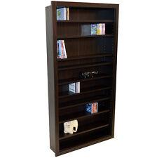 Large Media CD DVD Storage Shelves - WALNUT - MS0766M