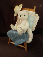 """Calico Kittens By Enesco """"Waiting For A Friend Like You"""" Figurine. 1992 6in Tall"""