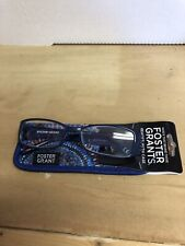 Foster Grant Women's Justine Blue Square Readers Reading Glasses Blue 2.00 NWT