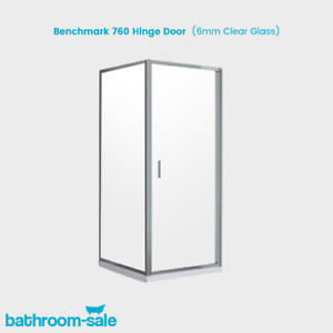 BenchMark 760mm Hinge Door with Chrome Frame & Clear Glass | RRP: £329