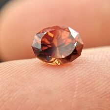 Natural reddish brown round faceted Zircon 1.66ct