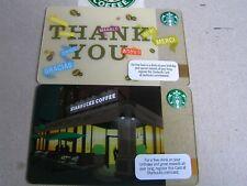 2 x USA new Starbucks cards  6086/6069