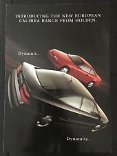 HOLDEN CALIBRA Advertising Brochure Sales Handbook