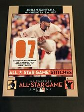 2007 Topps JOHAN SANTANA All Star Game Stitches Game Used Jersey Twins