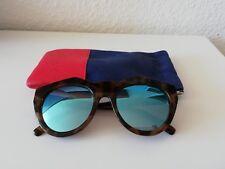 Le Specs Neo Noir Sonnenbrille, Braun, Blau, verspiegelt, Top Zustand