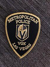 LAS VEGAS GOLDEN KNIGHTS METRO POLICE PATCH NEVADA LVMPD VGK RARE FLEURY STONE