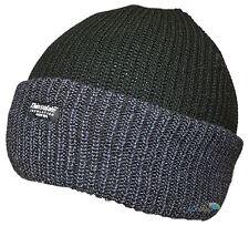 New Unisex Black & Grey Beanie Hat Quality Knit 40g Thinsulate Ski Winter Warm