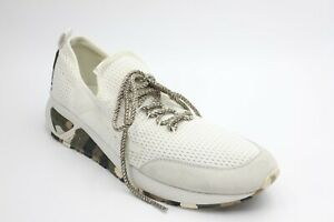 DIESEL Mens S-KBY Fashionable Low Top Sneakers White Army Size 9 NEW AUTHENTIC