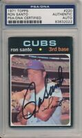 1971 Topps Ron Santo Signed Card #220 PSA/DNA Auto Chicago Cubs #83832022