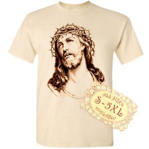 Jesus Christ V140 Catolic Christian Church Print DTG T SHIRT All sizes S-5XL