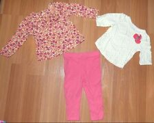 Lot of 3 Baby Girl's 12 Months Tops 9 Months Bottoms Leggings Pants Outfits Sets