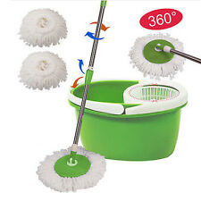 New Household Cleaning Wet Mop Wring Bucket 360 Spining Rotating Adjustable Tool